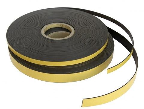 Магнитная лента 25.4 мм с простым клеем