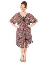 B1233-11 платье коричневое