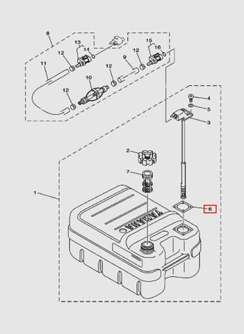 Прокладка коннектора  для лодочного мотора T15, OTH 9,9 SEA-PRO (18-6)