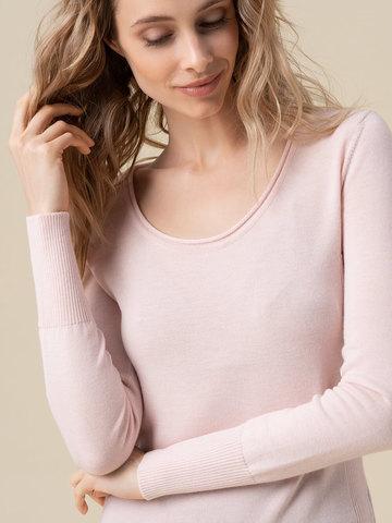 Женский джемпер светло-розового цвета из 100% кашемира - фото 4