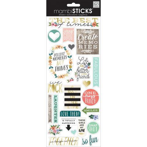 Стикеры  mambi Specialty Stickers The Best Of Times 13х30 см