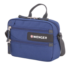 Сумка для документов Wenger, синяя, 23x5x18 см