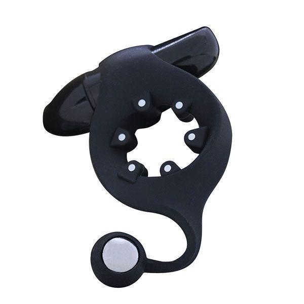 Эрекционные кольца: Чёрное эрекционное кольцо с магнитами MOJO MAGNETO