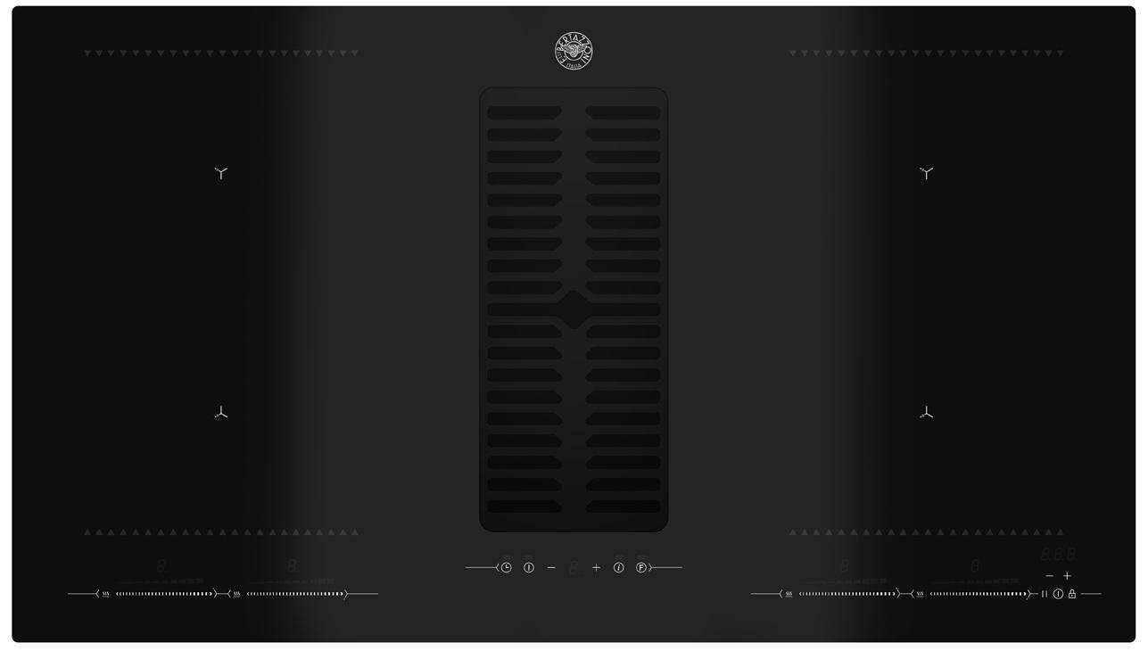 Индукционная варочная панель со встроенной вытяжкой Bertazzoni P904ICHNE