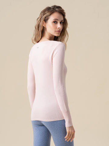 Женский джемпер светло-розового цвета из 100% кашемира - фото 2