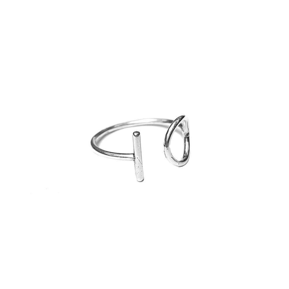 Balance Ring , sterling silver