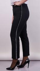Линда. Модные брюки size plus. Черный.