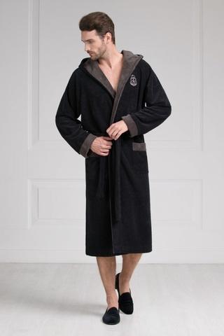 Мужской бамбуковый халат с капюшоном 11008-7 Laete Турция