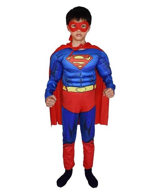 Супермен костюм с мускулами детский