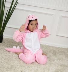 Кигуруми дракон розовый