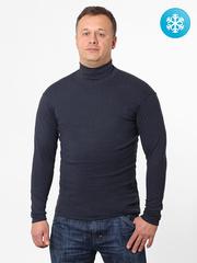 VD100-4 водолазка мужская утепленная, серо-синяя