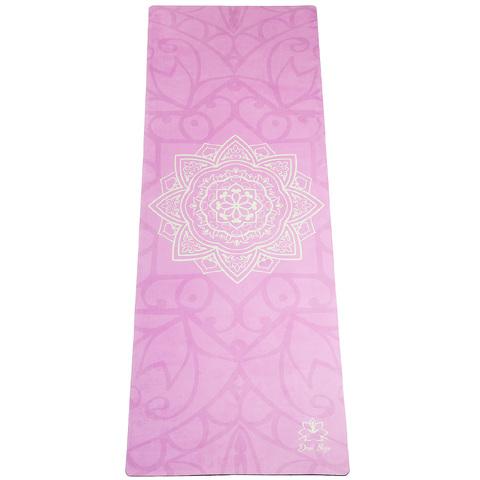 Коврик для йоги Мандала 183*61*1-3,5мм из микрофибры и каучука
