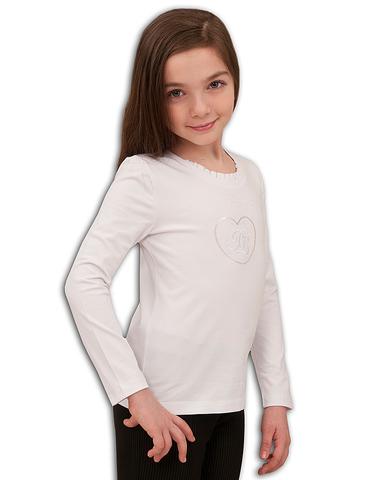 13-716-017В Basia Блузка для девочки трикотажная белая