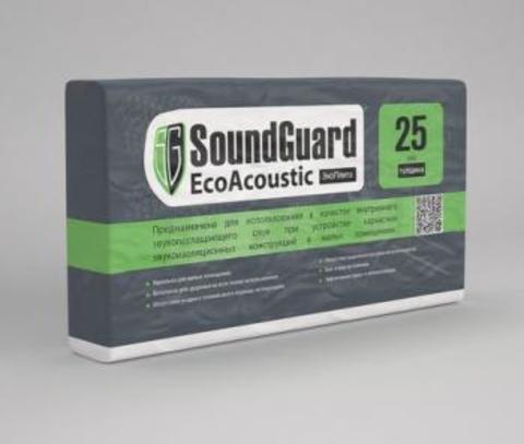 SoundGuard EcoAcoustic ЭкоПлита 1000х600х25 мм Плита звукопоглощающая