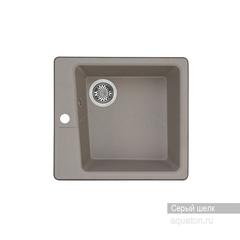 Мойка Акватон Парма 1A713032PM250 для кухни из искусственного камня, серый шелк