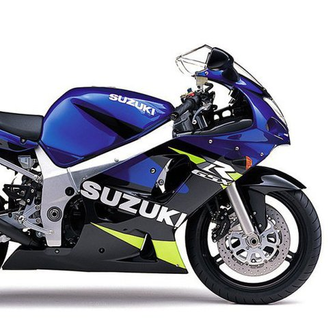 Набор наклеек на Suzuki GSX-R 600 2001 (сине - черный пластик)