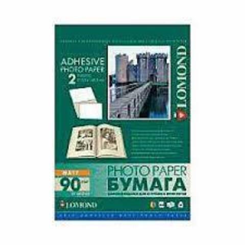 Самоклеящаяся фотобумага LOMOND, матовая, A4, 2 делен. (210 x 148.5 мм), 90 г/м2, 25 листов.