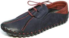 Мокасины на шнурках мужские Luciano Bellini 23406-00 LNBN.