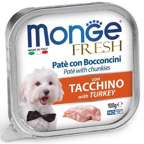 Monge Dog Fresh консервы для собак (индейка) 100г