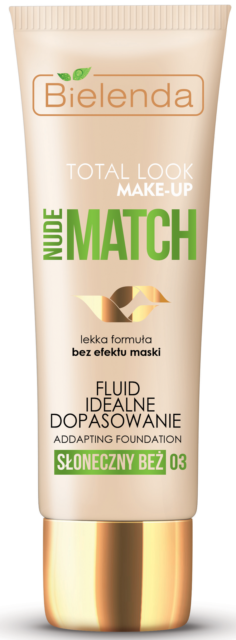 TOTAL LOOK MAKE-UP Тональный крем адаптирующийся под цвет кожи NUDE MATCH - солнечный 30гр