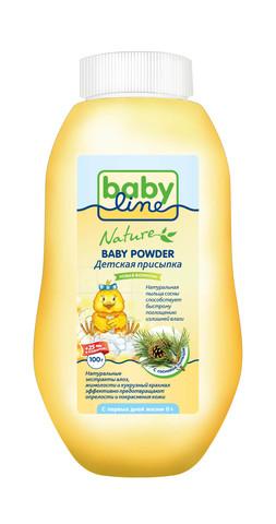 Детская присыпка Babyline Nature 100г + 25г в подарок с натуральной сосновой пыльцой