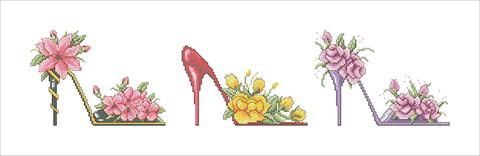 Набор для вышивания  Цветочные туфельки. High Heels Collections. Арт. 4007