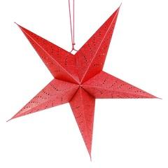 Светильник подвесной Star с кабелем 3,5 м и патроном под лампочку E14, 60 см., красный EnjoyMe