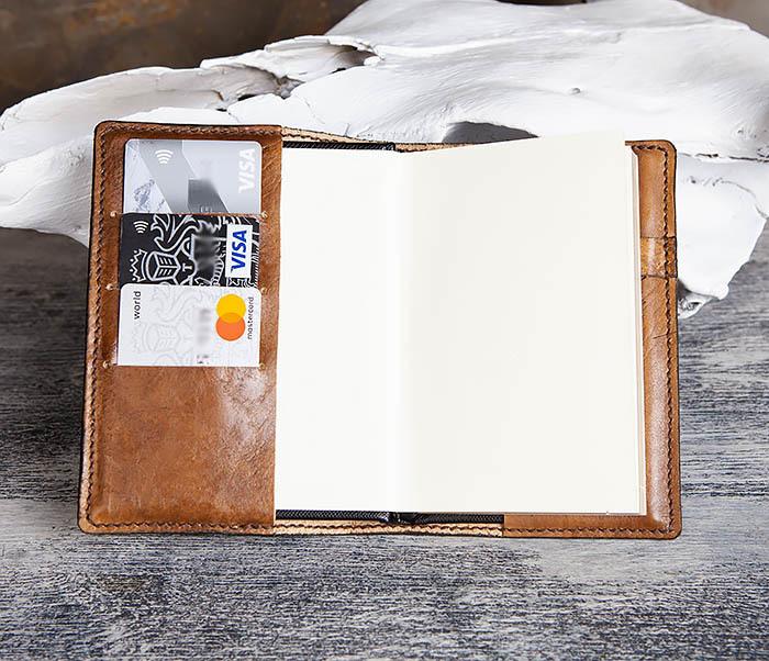 """BC200 Ежедневник """"Болтун"""" в кожаной обложке ручной работы (A6) фото 08"""