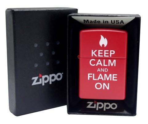 Классическая Зажигалка Zippo 28671 Keep Calm and Flame On
