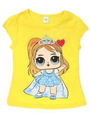 D002-23 футболка для девочек, желтая