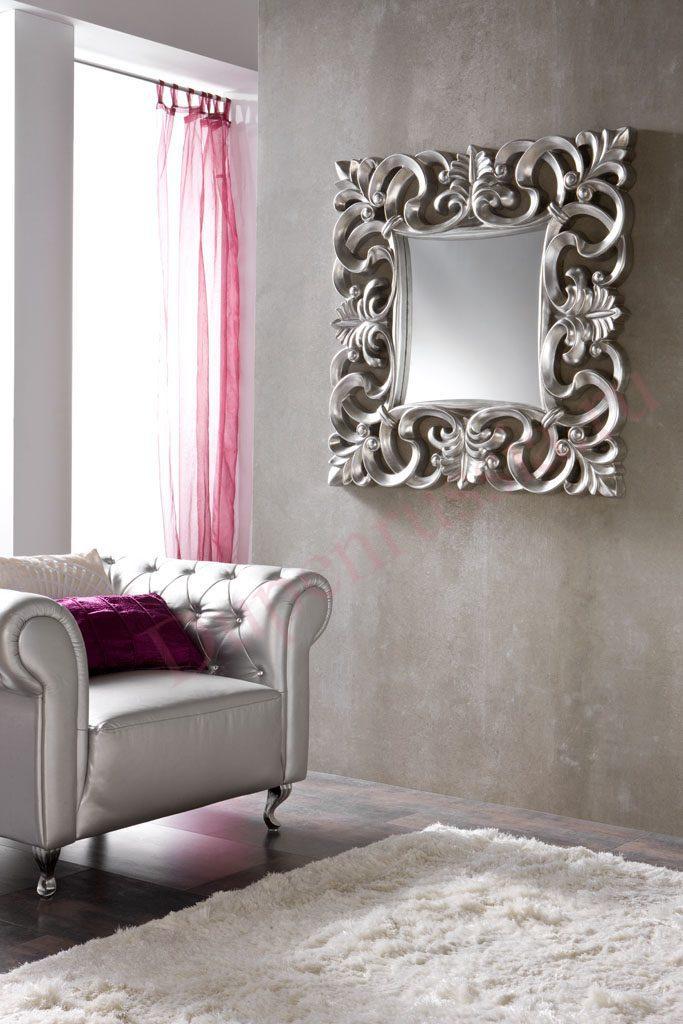 Зеркало Dupen PU021 серебро