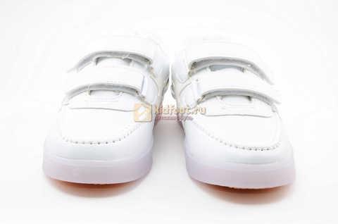 Светящиеся кроссовки с USB зарядкой Бебексия (BEIBEIXIA) для девочек цвет белый. Изображение 4 из 12.