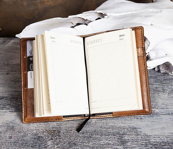 """BC200 Ежедневник """"Болтун"""" в кожаной обложке ручной работы (A6) фото 09"""