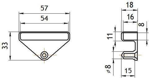Латодержатель боковой 53 мм