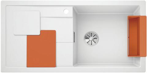 Кухонная мойка Blanco SITY XL 6 S, белый/апельсин