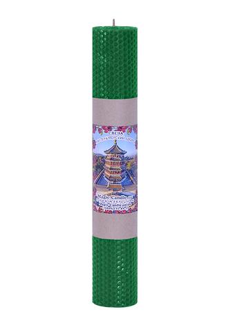 Свеча императорский дворец зеленая