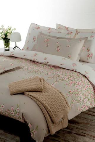 Постельное белье 2 спальное евро Mirabello Rosa Primula серое