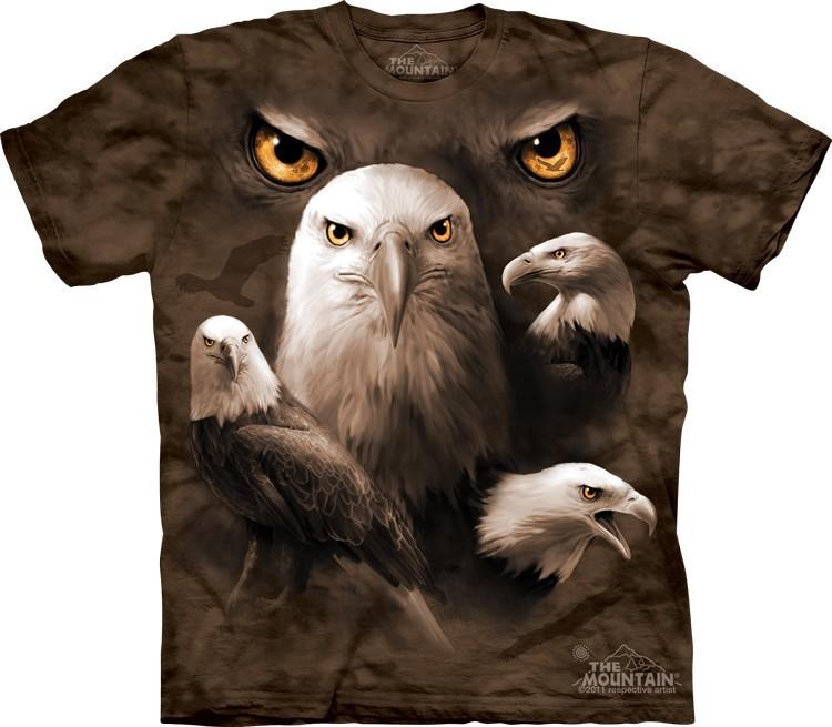 Футболка Mountain с изображением орлинных глаз - Eagle Moon Eyes