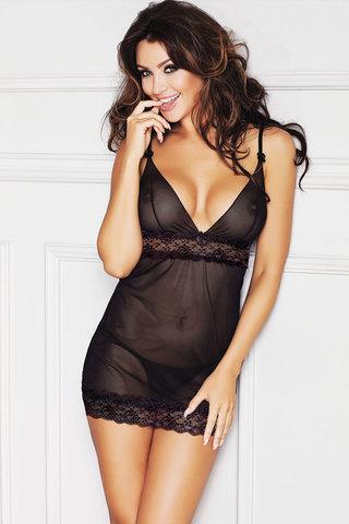Черная прозрачная сорочка короткая эротическая сексуальная красивая польская романтичная легкая