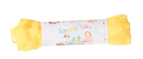 Шёлк игровой 86х86 см желтый (Sarah`s Silks)