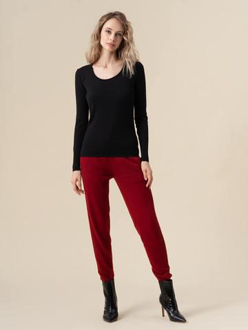 Женский джемпер черного цвета из 100% кашемира - фото 3