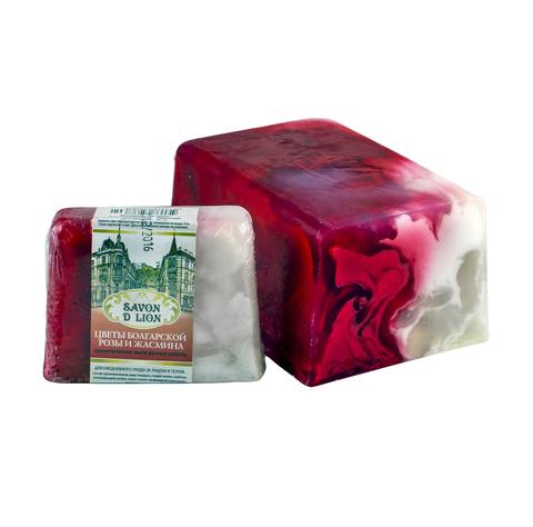 Косметическое мыло Цветы болгарской розы и жасмина 100 гр. ТМ SAVON D LION