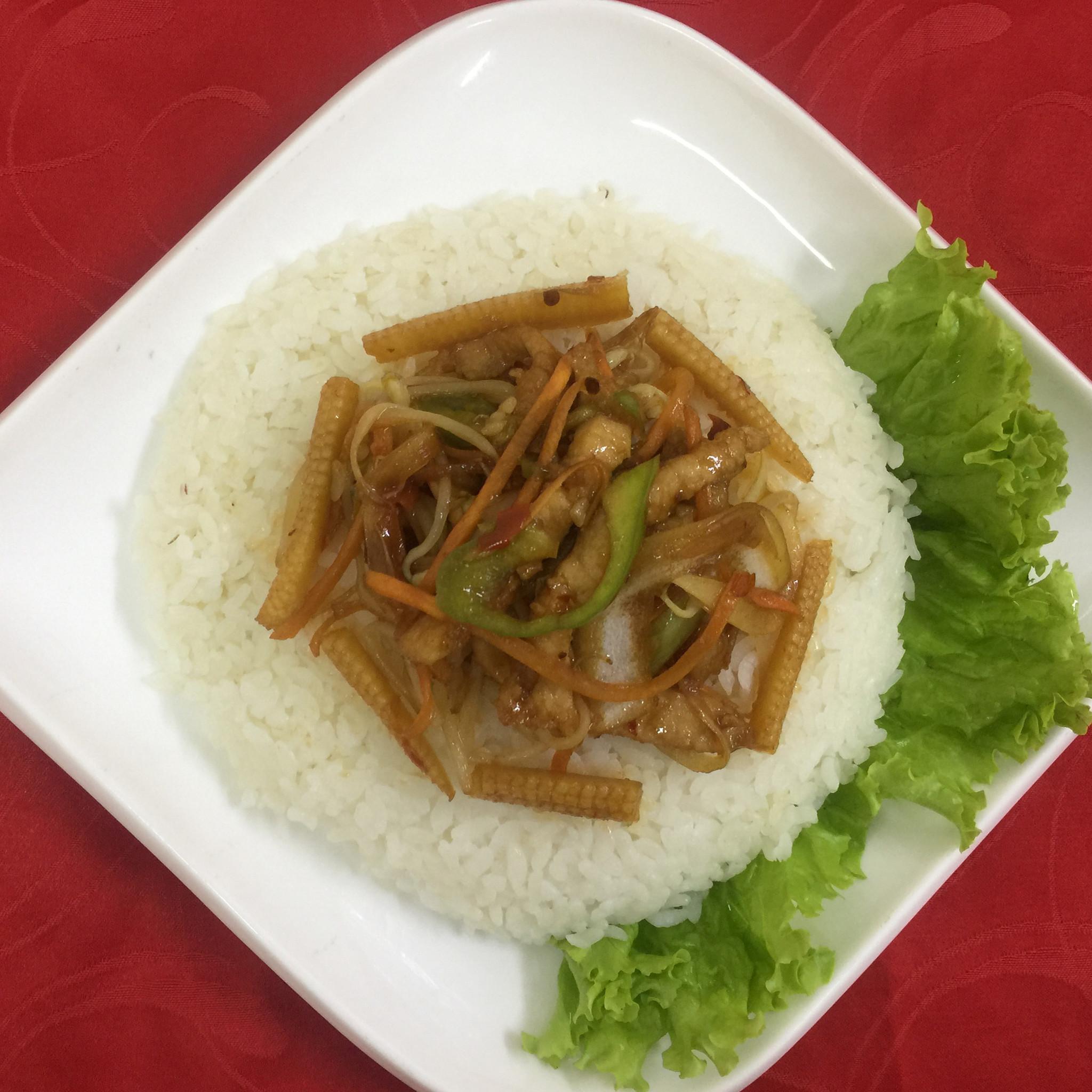 Вок свинина с рисом
