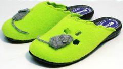 Стильные тапочки для дома женские Inblu NC- 1B Mouse Light Green