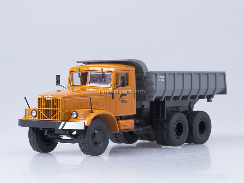 KRAZ-256 B1 tipper orange-gray 1:43 AutoHistory