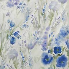 Постельное белье 1.5 спальное Elegante Avignon синее