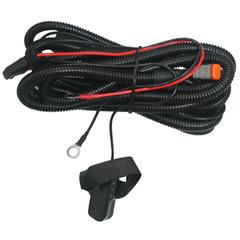 Комплект проводов с разъёмом, герметичной кнопкой, крепёжной лентой, реле, предохранителем