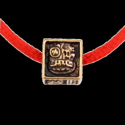 Красная нить с Кубиком - оберег-браслет-талисман