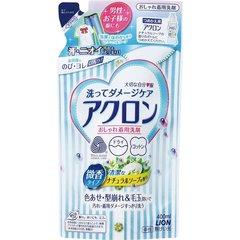 Жидкость для стирки деликатных тканей,  Lion, Acron, натуральное мыло, сменный блок, 400 мл