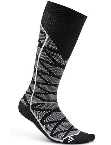 Компрессионные высокие носки Craft Pattern Black Print Compression